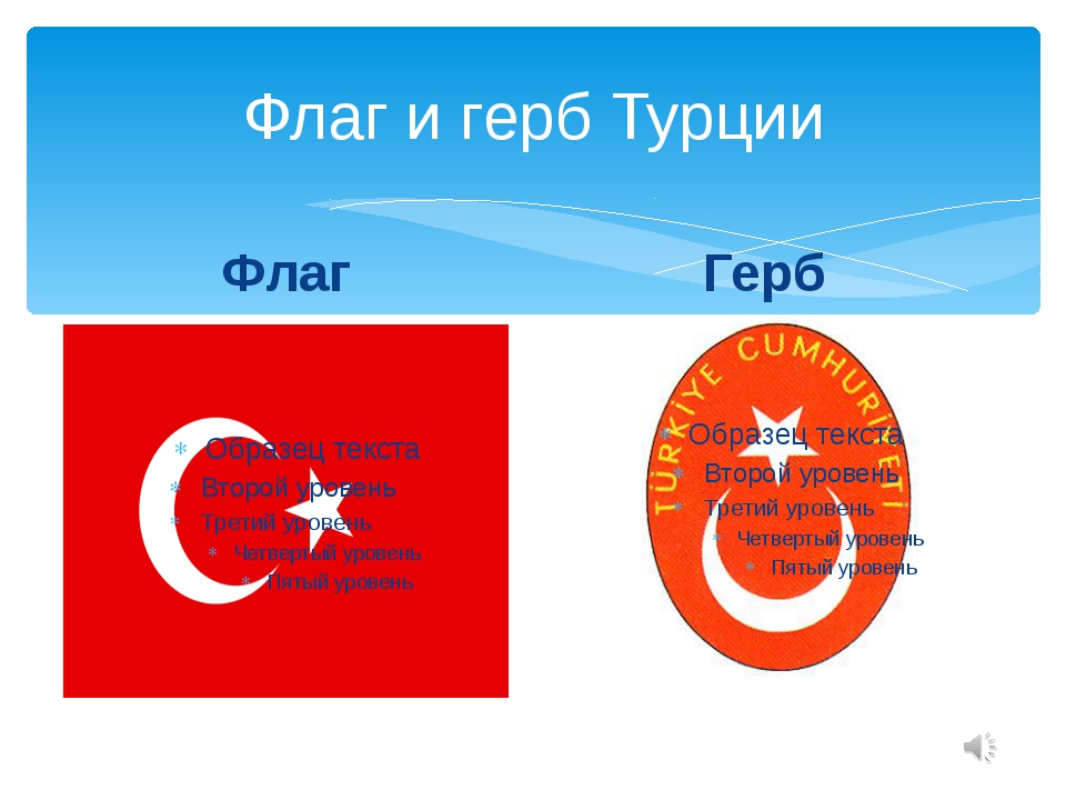 Флаг и герб Турции Флаг Герб