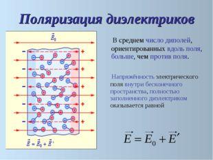 Напряжённость электрического поля внутри бесконечного пространства, полность