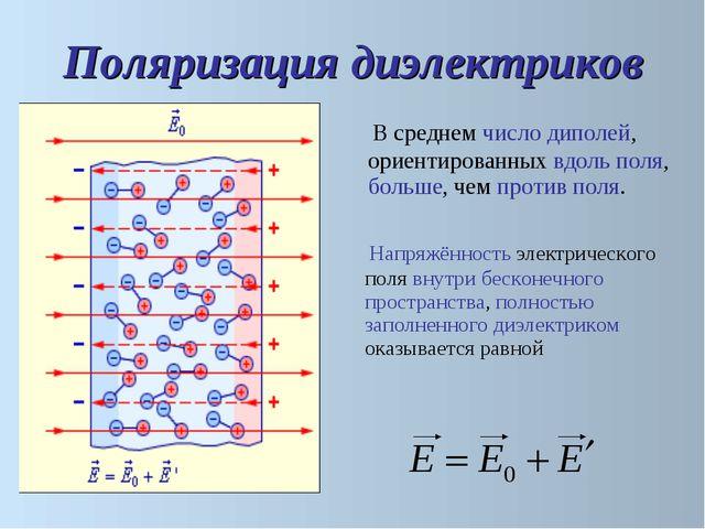 Напряжённость электрического поля внутри бесконечного пространства, полность...