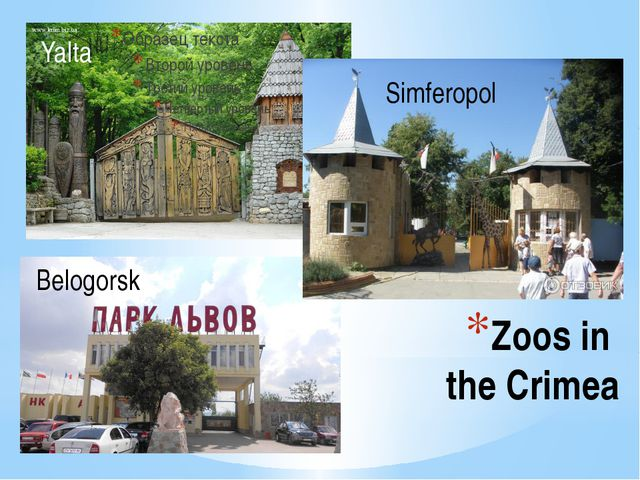 Zoos in the Crimea Yalta Belogorsk Simferopol
