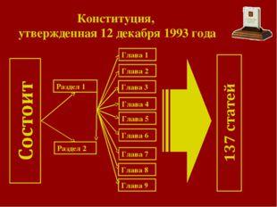 Конституция, утвержденная 12 декабря 1993 года Раздел 1 Раздел 2 Глава 9 Глав