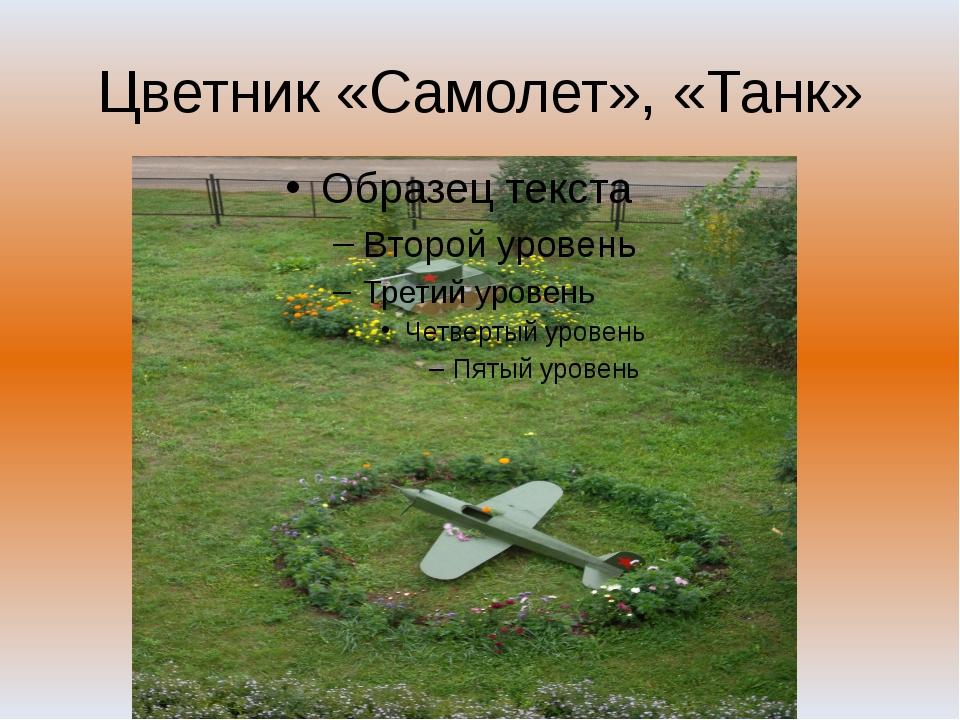 Цветник «Самолет», «Танк»