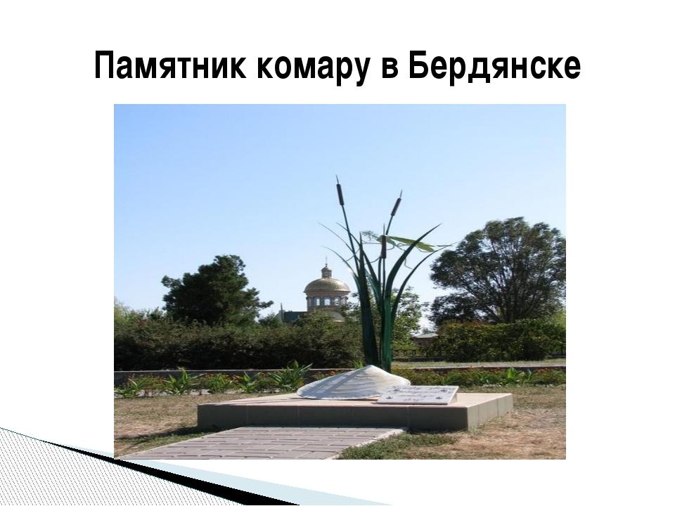 Памятник комару в Бердянске