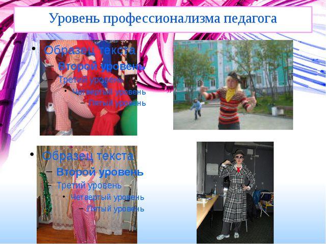 Уровень профессионализма педагога