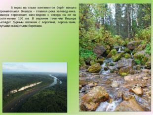 В горах на стыке континентов берёт начало стремительная Вишера – главная рек