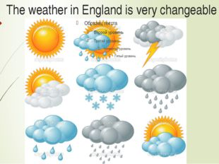 The weather in England is very changeable