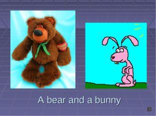 A bear and a bunny