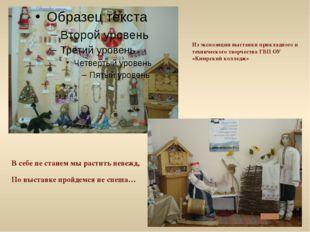 Из экспозиции выставки прикладного и технического творчества ГБП ОУ «Кимрский