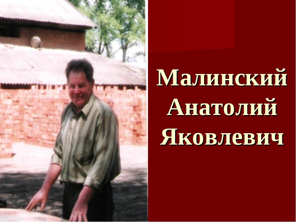Малинский Анатолий Яковлевич
