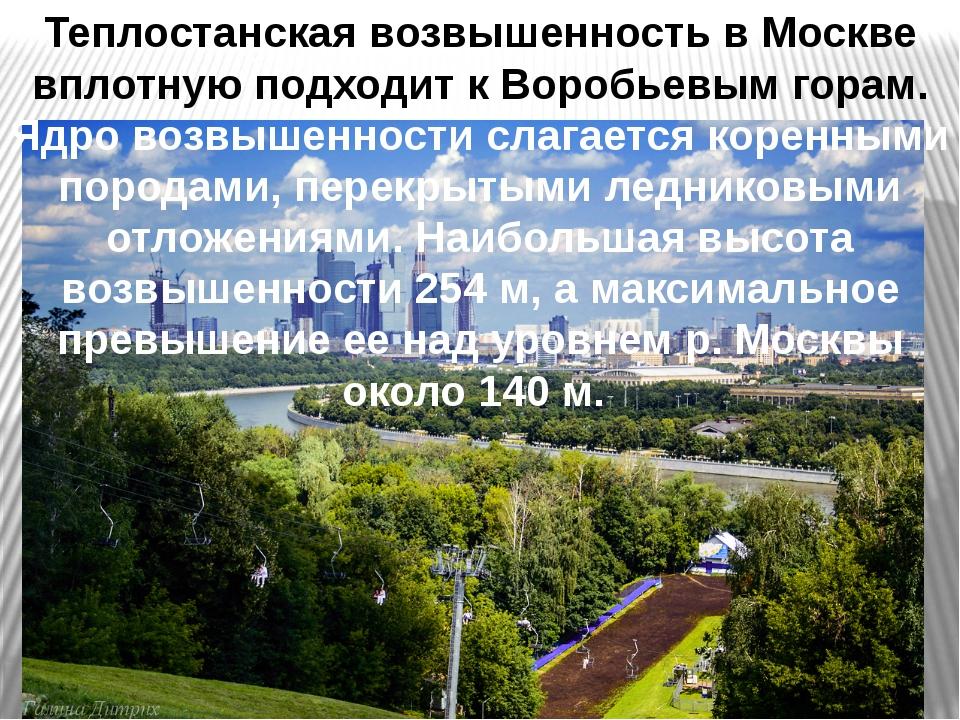 Теплостанская возвышенность в Москве вплотную подходит к Воробьевым горам. Яд...
