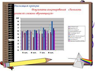Реализация проекта Результаты анкетирования «Личность учителя глазами обучаю