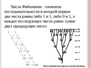 Числа Фибоначчи - элементы последовательности в которой первые два числа рав