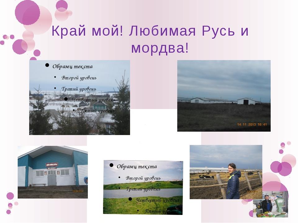 Край мой! Любимая Русь и мордва!