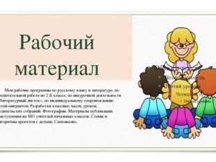 Рабочий материал Мои рабочие программы по русскому языку и литературе, по во