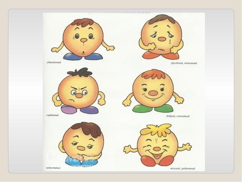 Эмоции человека картинки в детский сад