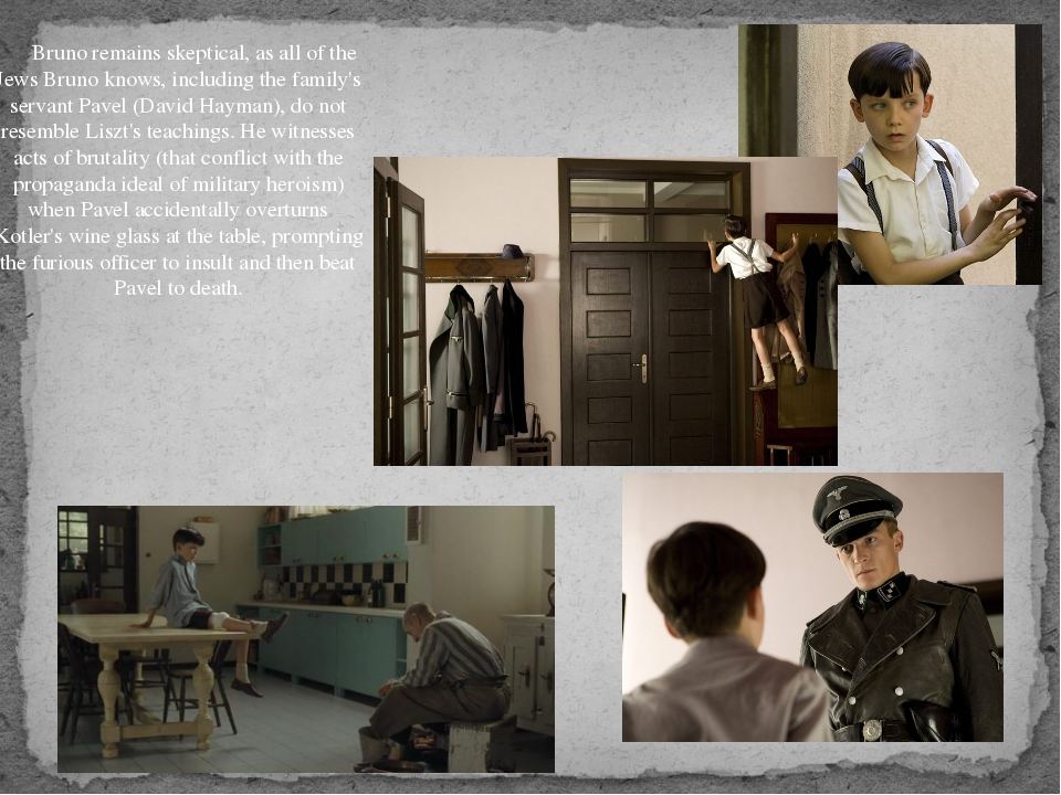 After this incident, Shmuel is sent to the commandant's home to clean glasse...