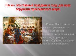 Пасха - это главный праздник в году для всех верующих христианского мира. В Р
