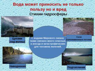 С водами Мирового океана также связано много опасных, а иногда и катастрофиче