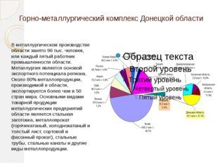 Горно-металлургический комплекс Донецкой области В металлургическом производс