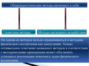 Общепедагогические методы включают в себя Словесные методы Методы наглядного