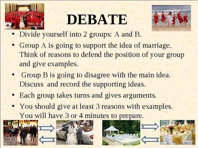 DEBATE Divide yourself into 2 groups: A and B. Group A is going to support th...