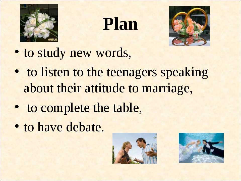 Plan to study new words, to listen to the teenagers speaking about their atti...