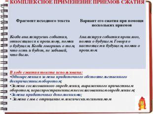 КОМПЛЕКСНОЕ ПРИМЕНЕНИЕ ПРИЁМОВ СЖАТИЯ  Фрагмент исходного текстаВариант его