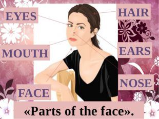 HAIR EYES EARS MOUTH FACE «Parts of the face». NOSE