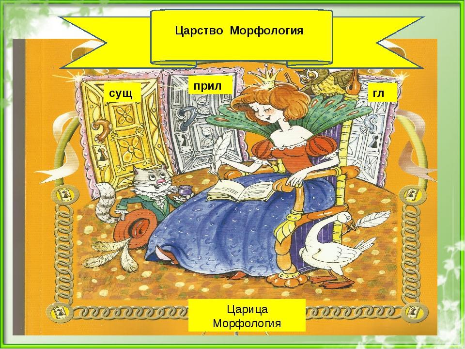 Царство Морфология сущ прил гл Царица Морфология