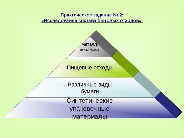 Практическое задание № 2: «Исследование состава бытовых отходов».
