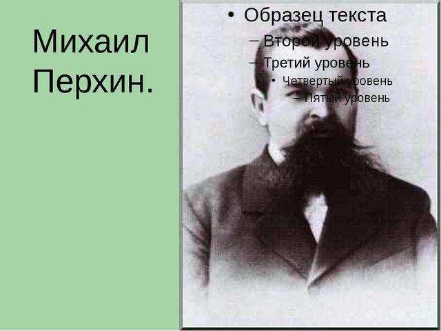 Михаил Перхин.