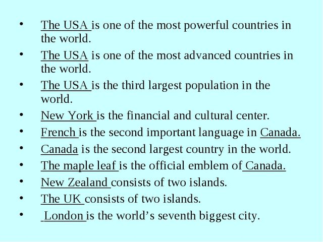 The USA is one of the most powerful countries in the world. The USA is one of...