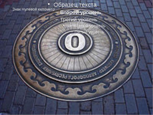 Знак Нулевой километр