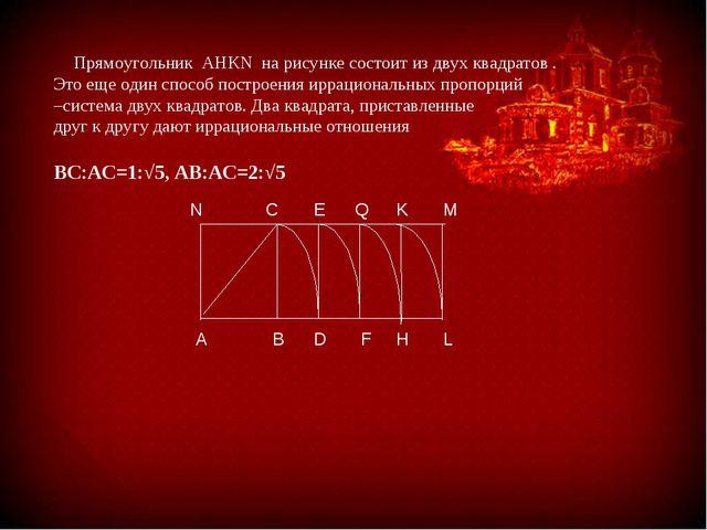 Прямоугольник AHKN на рисунке состоит из двух квадратов . Это еще один спосо...