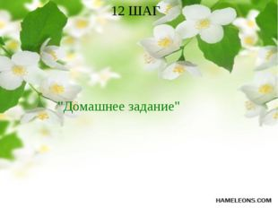 "12 ШАГ ""Домашнее задание"""