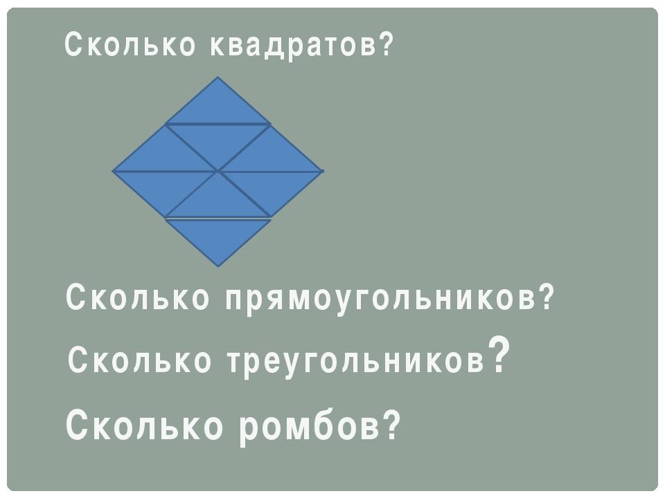 Сколько квадратов? Сколько прямоугольников? Сколько треугольников? Сколько ро...
