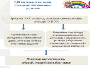 Формирование основ культуры исследовательской и проектной деятельности и нав