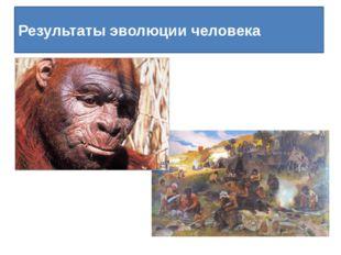 Результаты эволюции человека