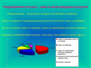Рекреационные ресурсы – один из видов природных ресурсов Рекреационные – это