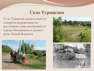 Село Турмасово Село Турмасово расположено в северном направлении на расстояни