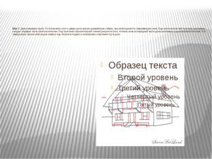 Шаг 7. Дорисовываем трубу. По бокам всех окон и двери дома рисуем деревянные