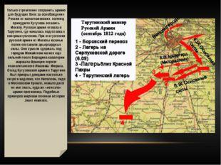 Только стремление сохранить армию для будущих боев за освобождение России от