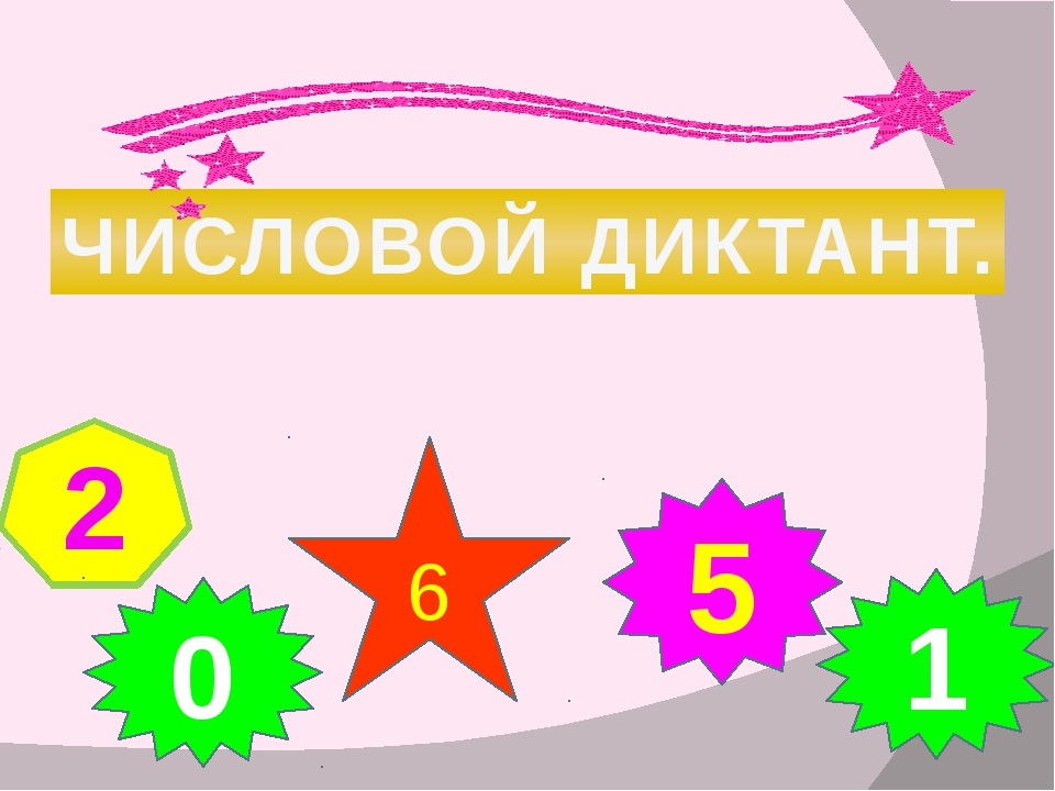 ЧИСЛОВОЙ ДИКТАНТ. 2 0 5 6 1