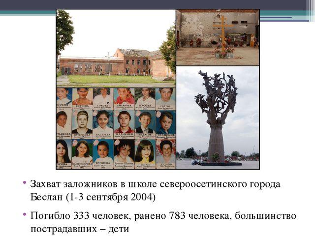 Захват заложников в школе североосетинского города Беслан (1-3 сентября 2004...