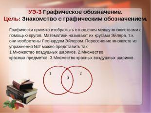 УЭ-3 Графическое обозначение. Цель: Знакомство с графическим обозначением. Гр
