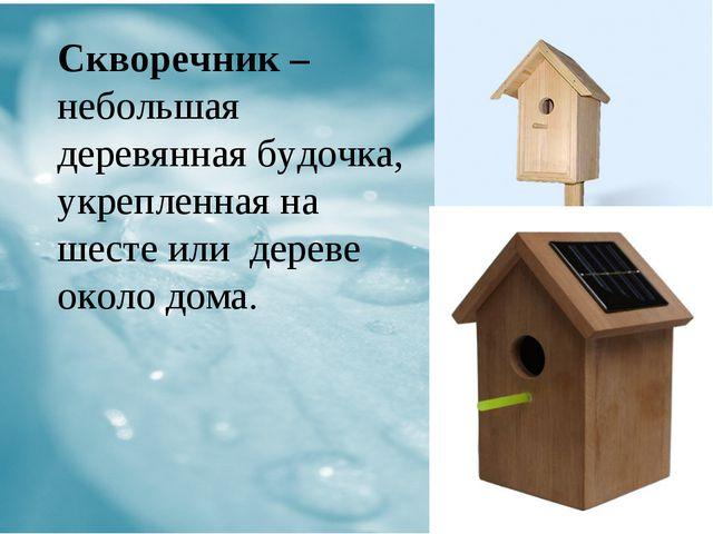 Скворечник – небольшая деревянная будочка, укрепленная на шесте или дереве о...