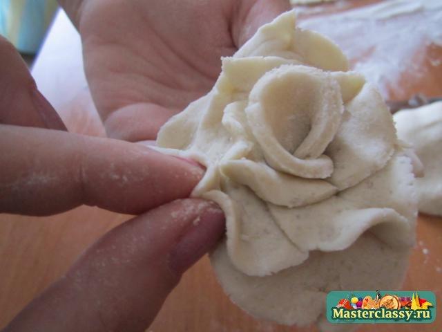 Розы из соленого теста Мастер класс