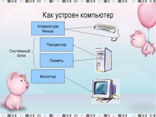 Устройство ввода информации Устройство вывода информации Устройство запоминан
