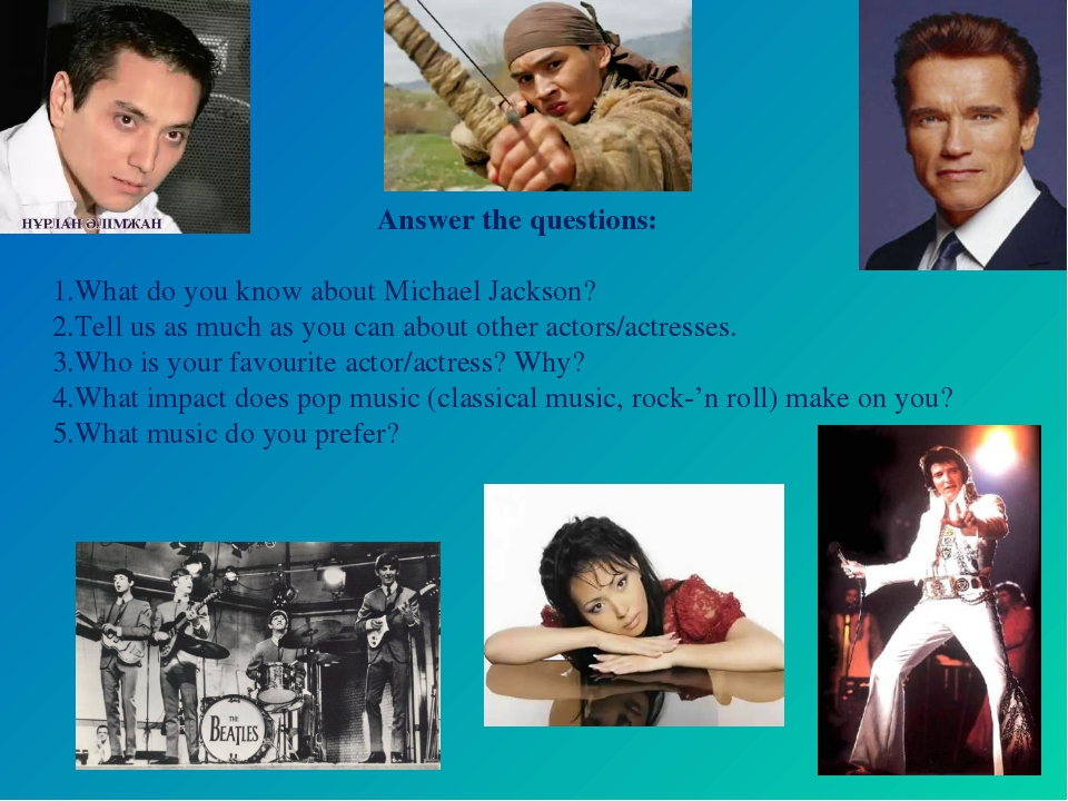 Answer the questions: What do you know about Michael Jackson? Tell us as muc...