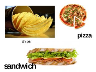 chips sandwich pizza